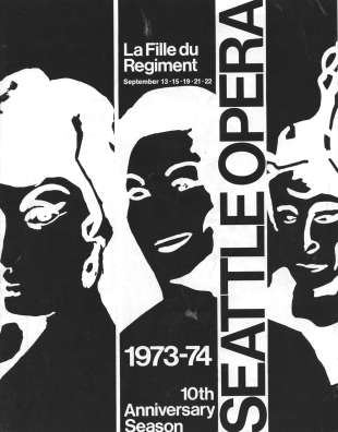 1973/74 Fille du regiment Cover