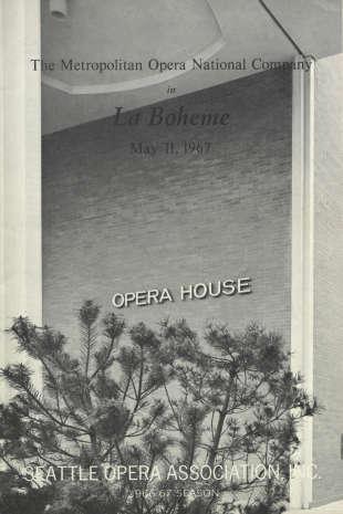 1966/67 La boheme Cover