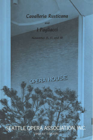 1966/67 Cavalleria and Pagliacci Program Cover