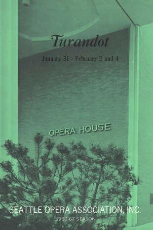 1966/67 Turandot Program Cover