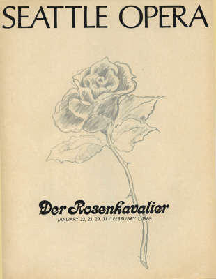 1968/69 Der Rosenkavalier Program Cover