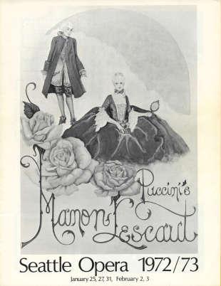 1972/73 Manon Lescaut Cover