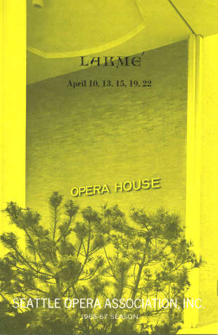 1966/67 Lakme Program Cover