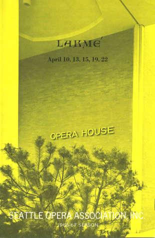 1966/67 Lakme Program Cover