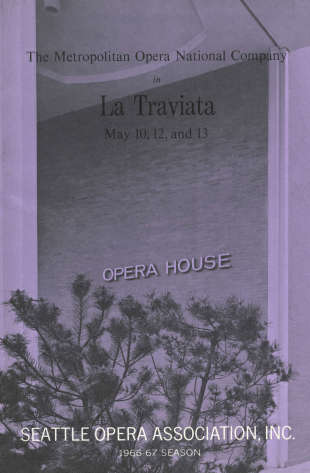 1966/67 La Traviata Program Cover