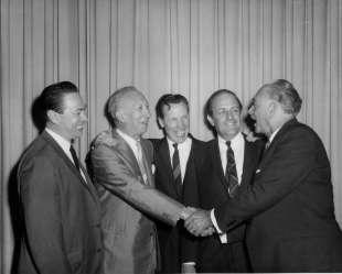 (l-r) Ernest Adams, Aurelio Fabiani, Glynn Ross, Rudolph Kruger, and Dr. Arturo di Filippi (1970's)