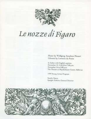 YAP 1999 Le nozze di Figaro Cover