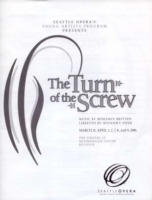 YAP 2006 Turn of the Screw Cover